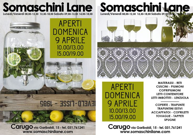 mail apertura domenicale Somaschini Lane Aprile 2017 by Emanuela Terraneo www.emanuelaterraneo.com