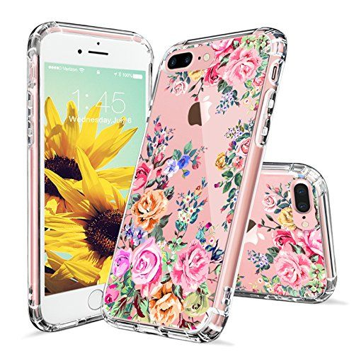 online store ad3c5 b572a iPhone 7 Plus Case, iPhone 8 Plus Case for Girls, MOSNOVO Roses ...
