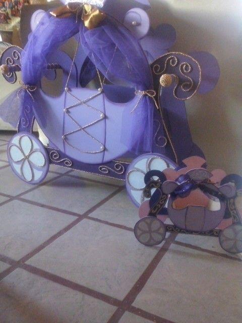 Carreta con centro de mesa Princesa Sophie!