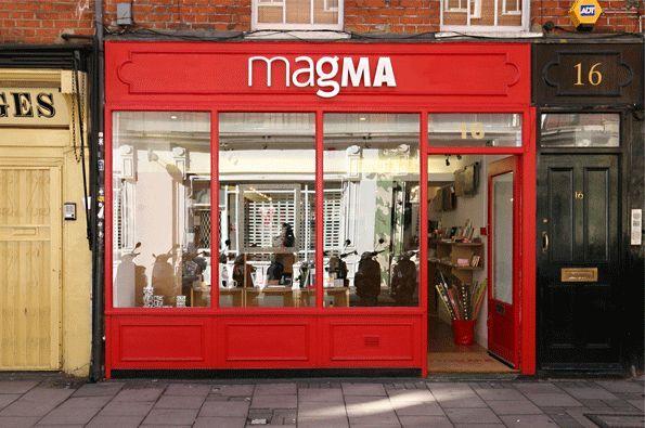 Magma, livraria - livros e revistas de design, moda e arquitetura que você nem sabia que existia! E aquelas besteirinhas de design ótimas para dar de presente. > 16 Earlham St. Covent Garden