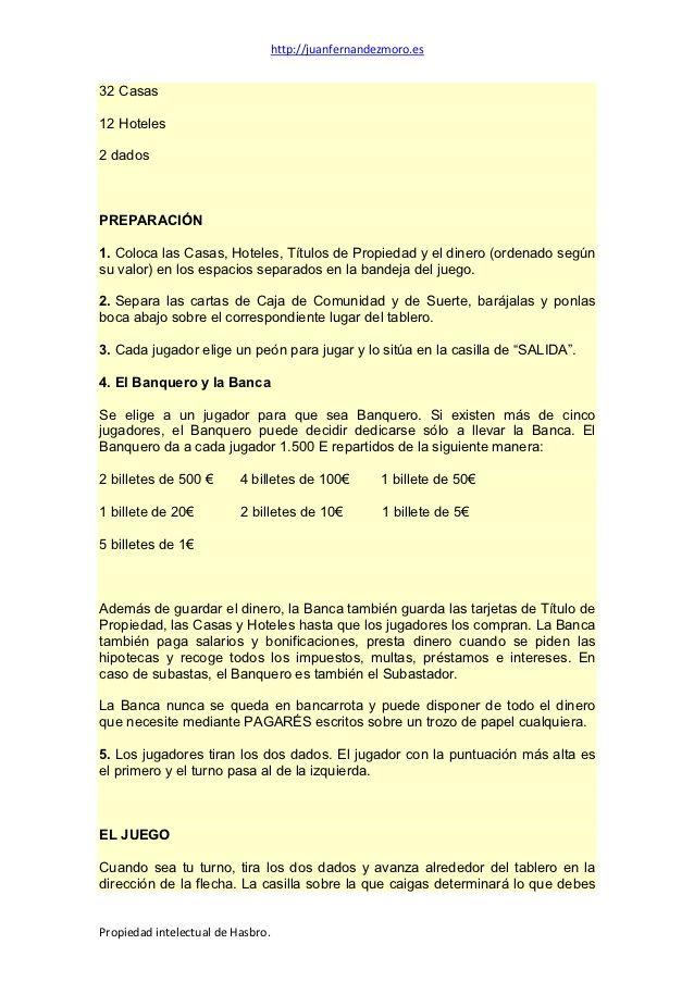 Instrucciones Reglas O Normas Del Monopoly Standard Post De Monopoly Caen