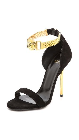 Versace Chain Strap Sandals  |  my sexy shoes 1