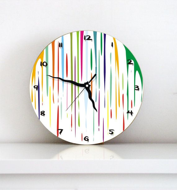 Dripping Paint Wall Design : Best images about clocks on kid decor