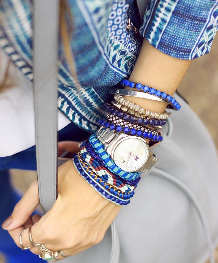 lots of bracelets + watch <3
