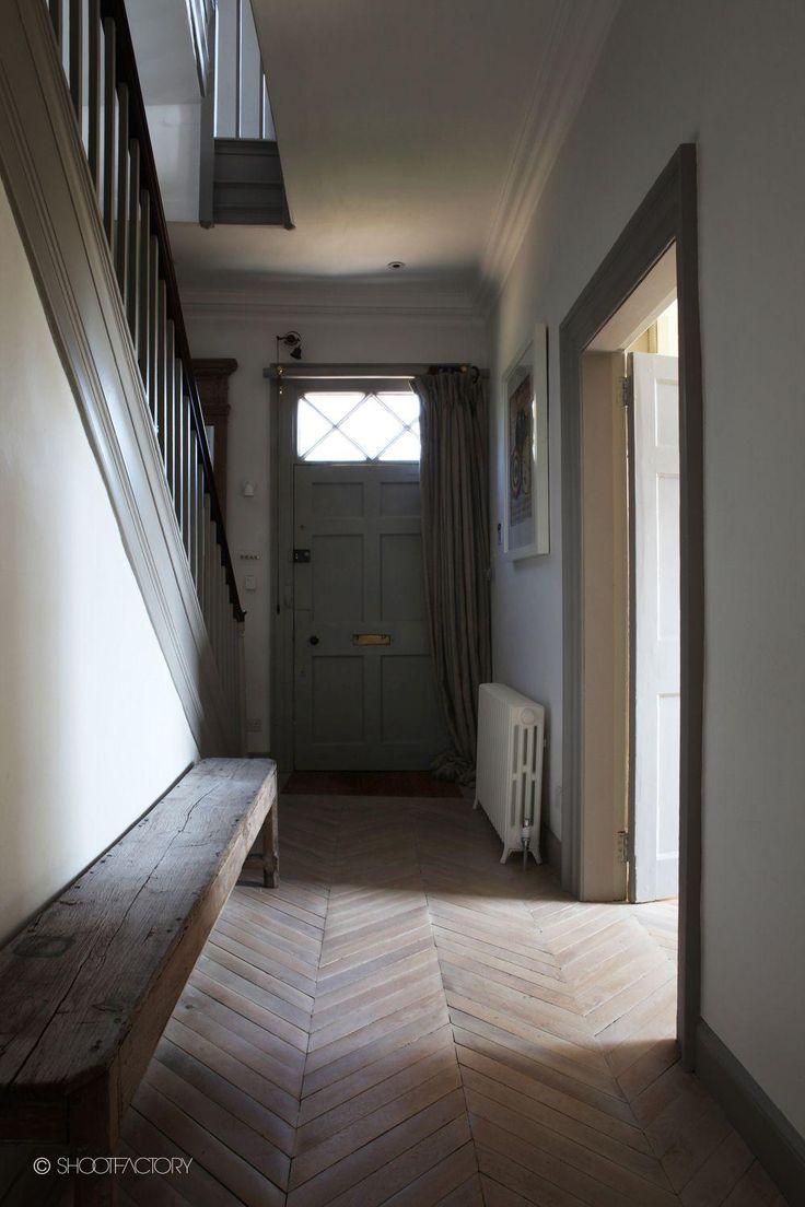 Front door, herringbone floors