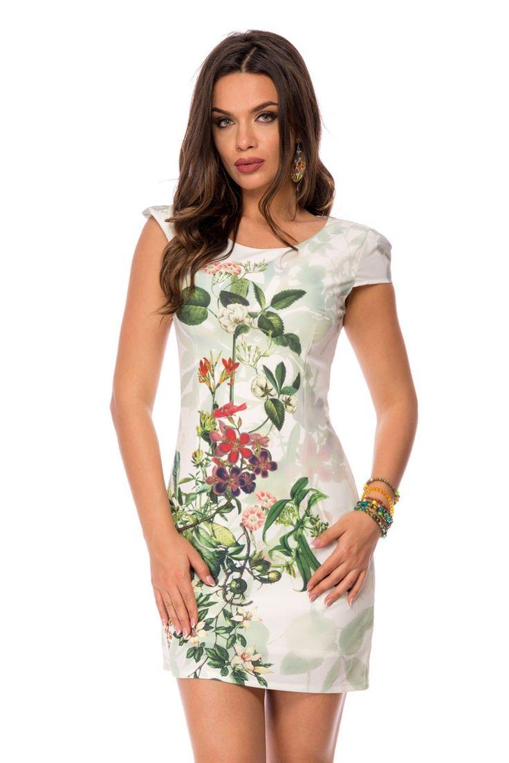Rochie Cami Vernil 159 lei Rochie cu imprimeu floral