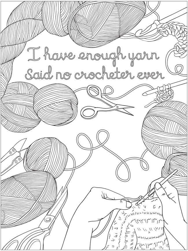 Welcome To Dover Publications Creative Haven Calming Crochet Coloring Book By Jessica Mazurkiewicz Paper Embroidery Crochet Quote Coloring Books