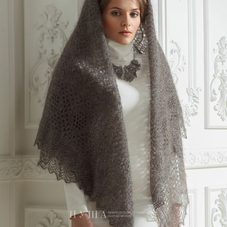 Milanya Triangle Shawl is an exclusive handiwork. Luxurious classic with impeccable taste. The patterns are designed with a mathematical precision. The shawl has qualities of a museum showpiece. Elegant patterns are skilfully interwoven, forming a unique picture. 20% silk, 80% goat wool - 199$