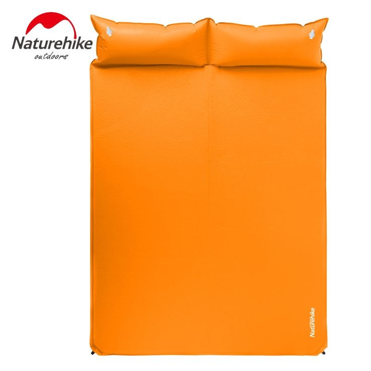 61.30$  Buy here - http://alivku.worldwells.pw/go.php?t=32744034631 - NatureHike Camping Mattress Two Seat Self-Inflating Mat Pad Portable Bed with Pillow Camping Equipment 61.30$