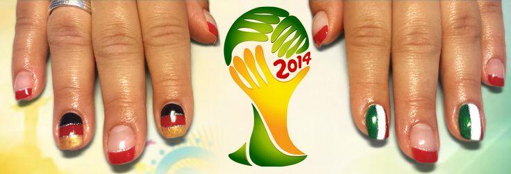 Fan-Nails zur Fußball-Weltmeisterschaft 2014