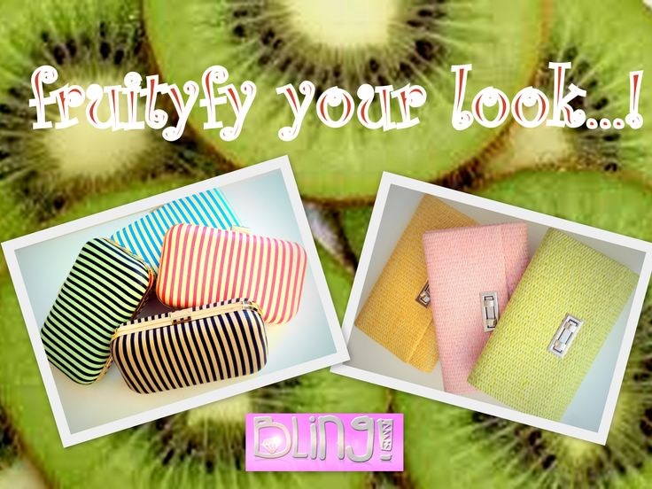 "Hey Bling girls, ""fruitify"" your look with fuity colored Bling accessories!!!!Get them all now!!!:)  Εμπρός Bling κορίτσια!!!Ενισχύστε το καλοκαιρινό λουκ σας με φρουτένια αξεσουάρ! Αποκτήστε τα τώρα!!!:) https://www.facebook.com/media/set/?set=a.629639433793383.1073741829.625193900904603&type=3  #bags #accessories #blingbyMV #fruity #stripes #straw #clutches #style #fashion #spring #summer #colors #fruityfy #bling #girls"