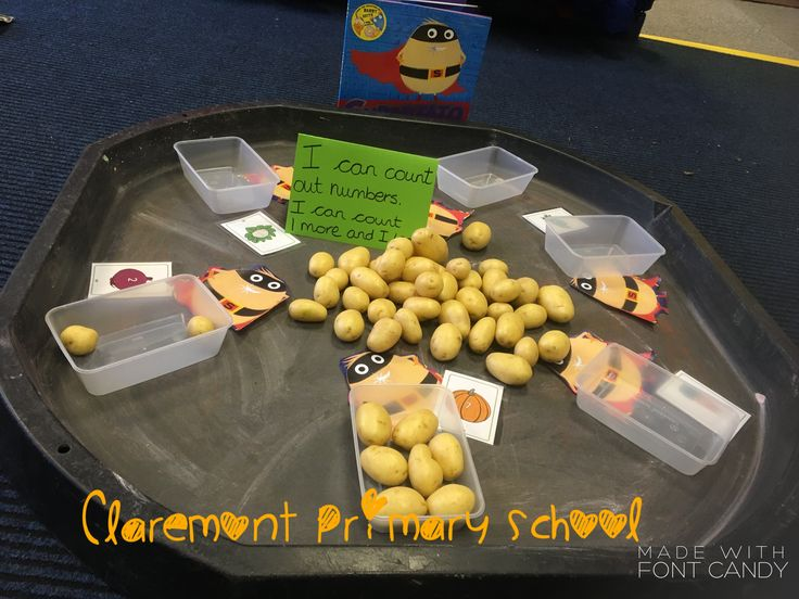 Counting sets. And reading digits. Numeracy , 40-60 EYFS Supertato maths