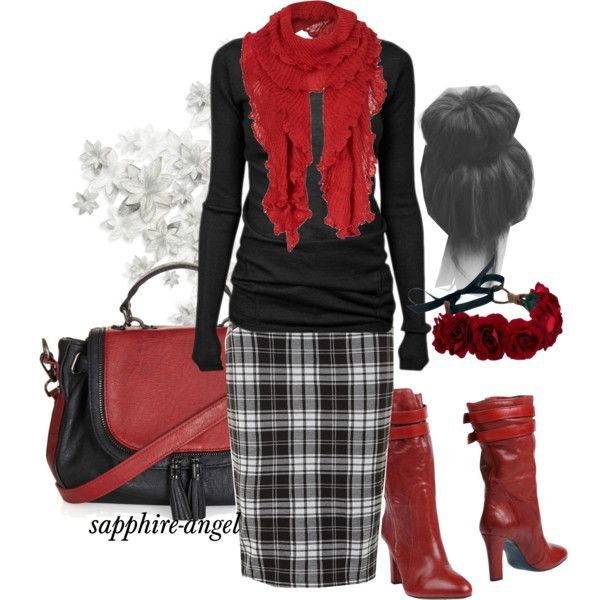 """Untitled #400"" by sapphire-angel on Polyvore...I want red boots!!"