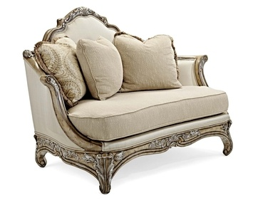 Antiqued Maple Classical Italian Baroque Settee Chair