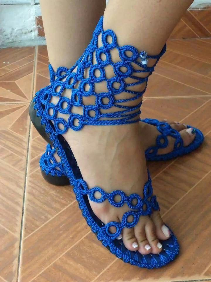 sandals crochet - sandalias crochet Mais