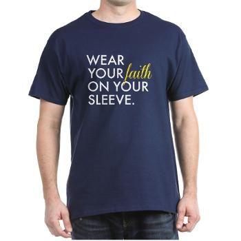 Wear your faith on your sleeve with this cool Christian T-Shirt Design #faith #god #jesus #christianity #christian