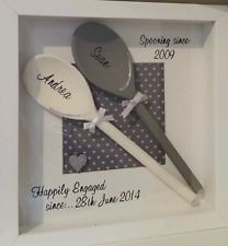 Quirky handmade personalised spooning frame.valentines,anniversary,wedding gift