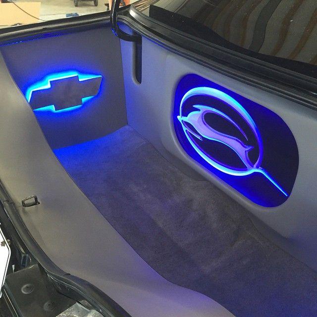 96' Impala SS. Full custom audio setup. trunk fiberglass plexiglass logo install