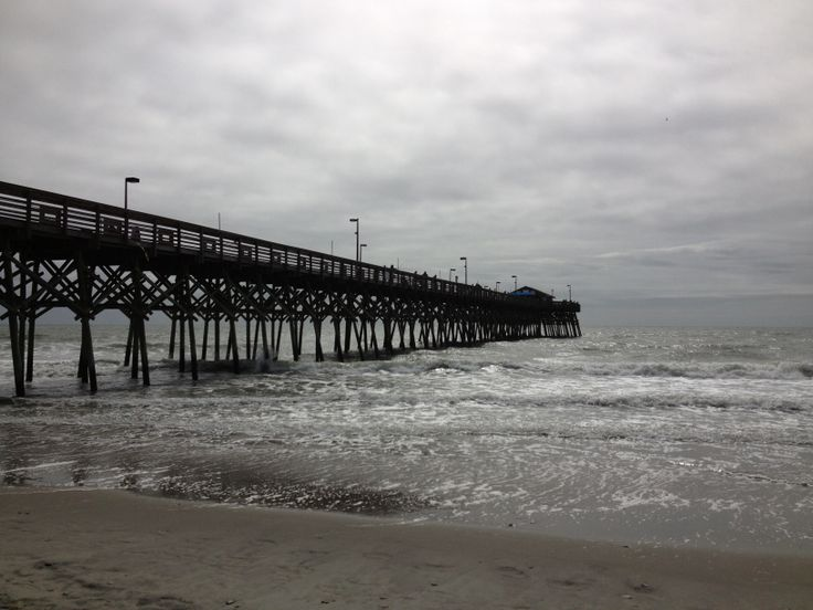 Garden City Pier Sc Fishing Panorama Pinterest