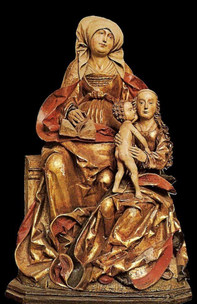 Sainte Anne trinitaire. Hildesheim, Cathédrale.