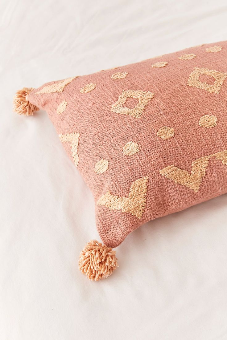 Paloma Geo Embroidered Throw Pillow Throw pillows