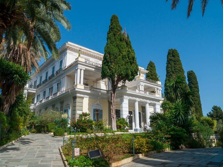 Achilleio - a palace built in Corfu by Empress Elizabeth of Austria in honor of the Homeric hero, and one of the major attractions of the island. https://greece.terrabook.com/corfu/page/achillion #Greece #Corfu #terrabook #GreekIslands #TravelTips #Travel #GreeceTravel #GreekPhotos #Traveling #Travelling #Holiday #Summer