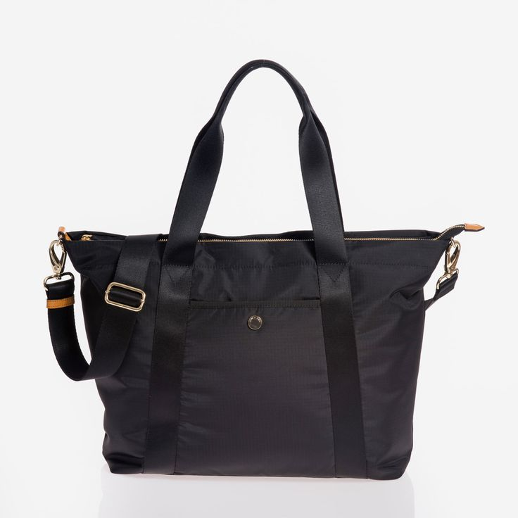 jem + bea lola bag in black ripstop nylon (actually a diaper bag!)