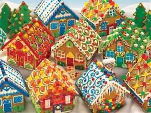 400pc Gingerbread Houses Christmas jigsaw puzzle | Cobble Hill Puzzle Company