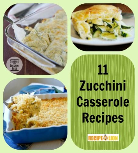 Put zucchini in a casserole in order to get your daily serving of vegetables.