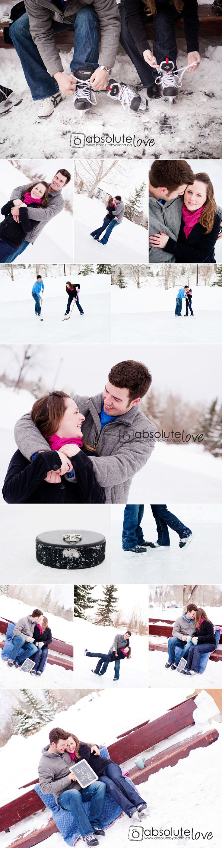 winter engagement. skating.   I would love to get some pictures on the ice some where!