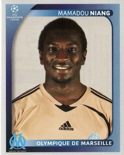 MARSEILLE - Mamadou Niang 381 PANINI Champions League 2008 2009 Football Sticker