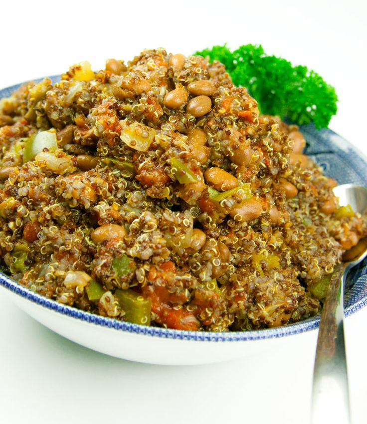 Spanish Quinoa recipe can be used as a side or a quick snack. A side of added veggies and you have lots of protein and fiber for nutrients, and satiety.