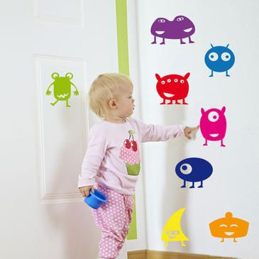 Perfect Bunte Monster Kinder Wandtattoo bunte monster kinder wandtattoo