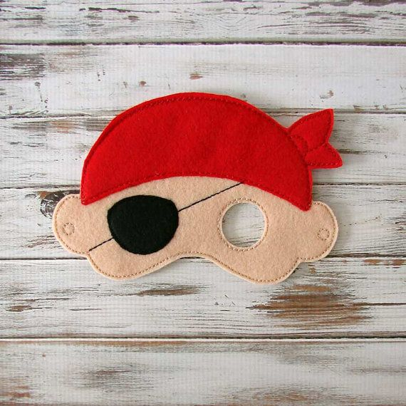 Pirate Mask - Felt - Kids Mask - Costume - Dress Up - Halloween - Pretend Play