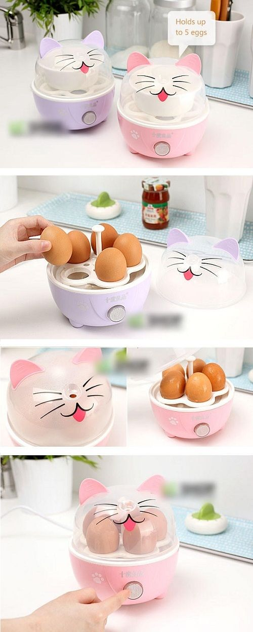 kawaii and cute products or gadgets Adorable and practical products Boil your eggs in true kawaii style with this cute cat egg boiler =^.^=