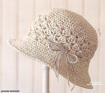 278 melhores imagens sobre knitting and crocheting no pinterest beige hat with ribbon free crochet graph pattern ccuart Gallery