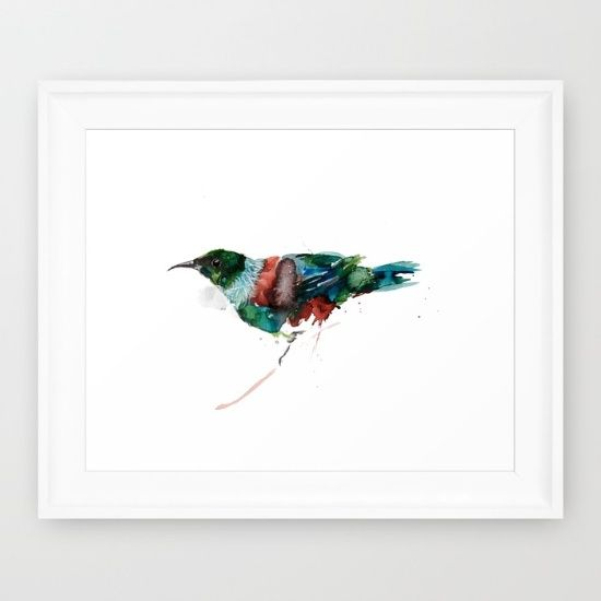 Tui Teka Framed Art Print by Art By Chrissy Taylor - $39.00