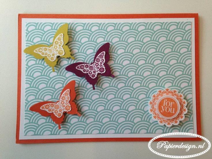 Papierdesign met Stampin' Up!: Sale-A-Bration Madison Avenue Papillon kaart  www.papierdesign.nl