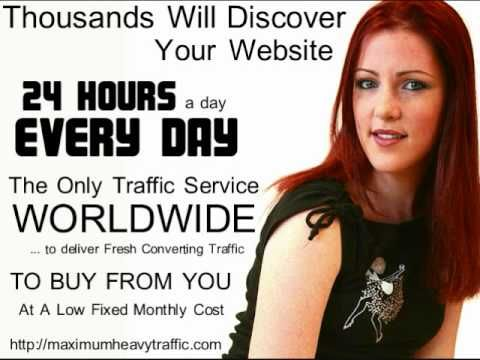 http://maximumheavytraffic.com - Unlimited Targeted traffic every day to buy from you. You could be generating sales or getting commissions and putting real, spendable cash in your accounts. All you Need is Highly Targeted Website Traffic that converts. Converting Traffic is NOT just Any Kind of Website Traffic, You Need The Kind of Traffic. The Kind of Traffic that Generates Sales, Commissions, Spendable Cash in all your accounts.