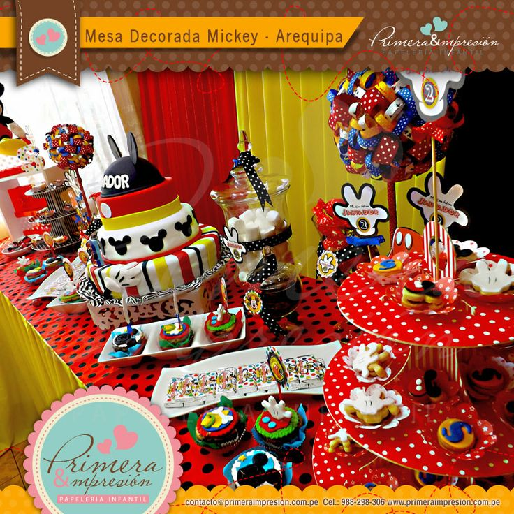 17 best images about mickey mouse mesa decorada on pinterest - Mesa de navidad decorada ...