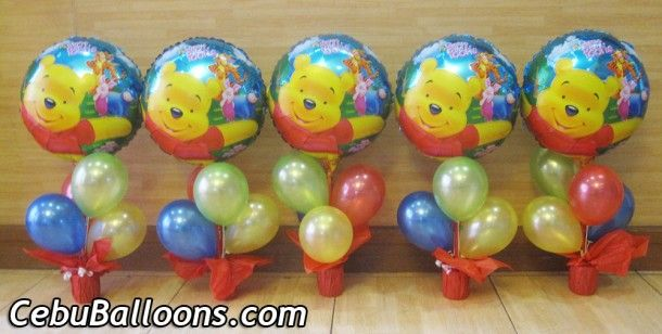 Winnie the Pooh Centerpieces in Pot