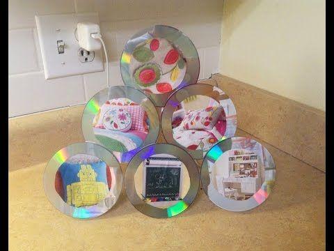 Cómo hacer un porta retratos de CD - YouTube