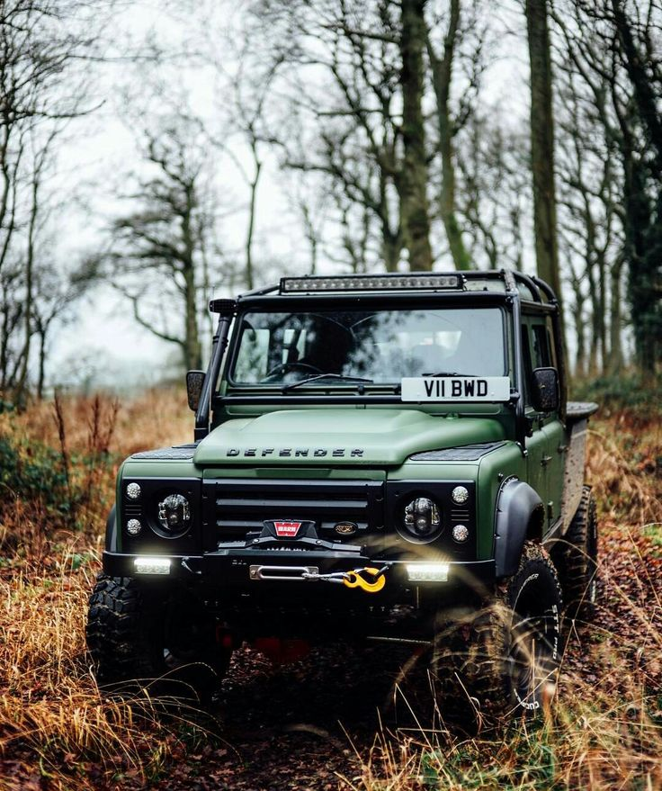 Land Rover Defender 130 DCH Sw. Pickup. TWISTED. In forest