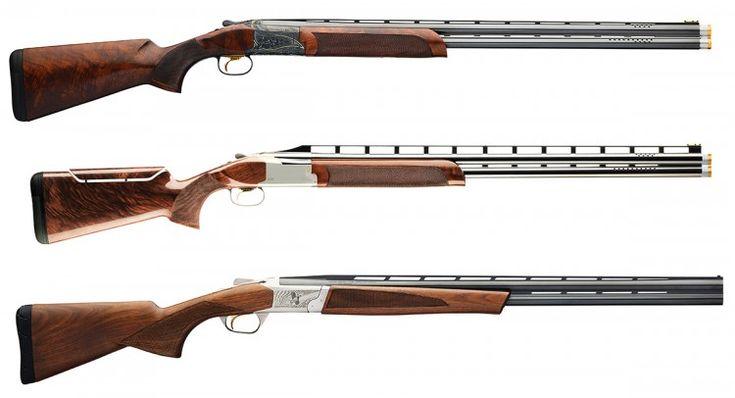 Browning Citori 725 Sporting Grade V (top) - Citori 725 High Rib Sporting (middle) - Cynergy Micro Midas 20 Gauge