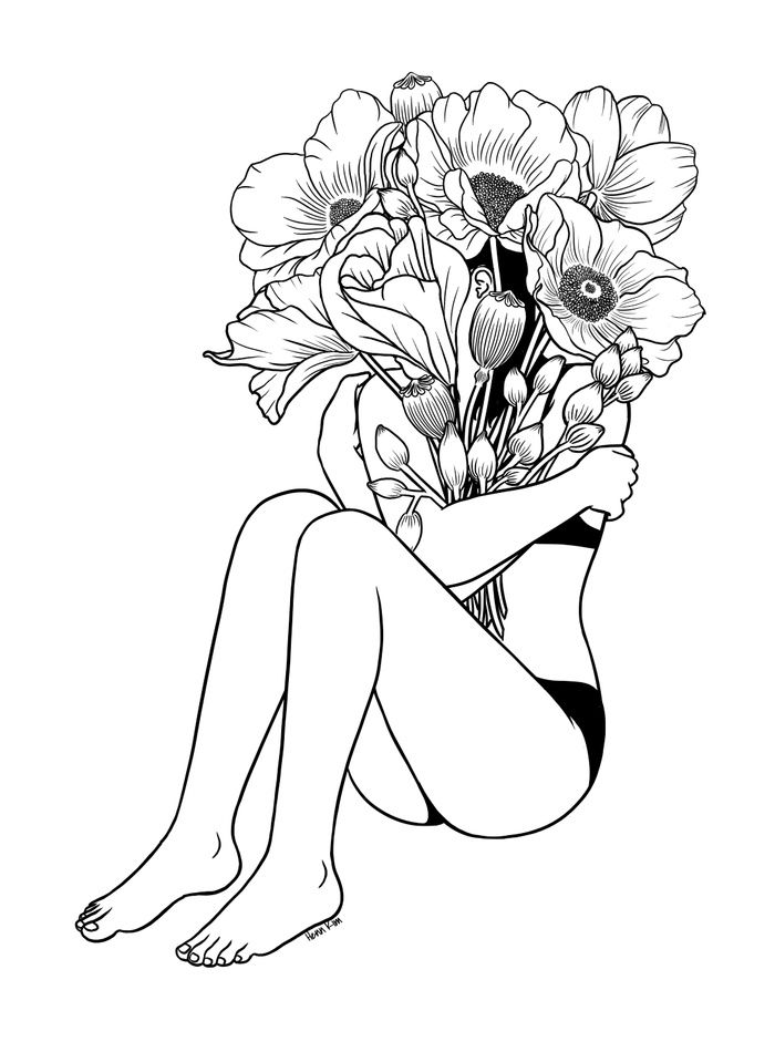 "1000drawings:  "" Love Myself by Henn Kim  """