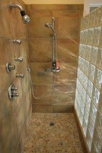 22 best glass block shower images on pinterest bathroom for Glass block alternatives