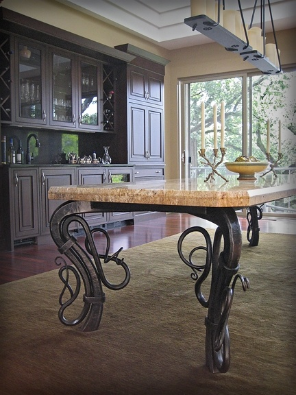 Dining Table or Conference Table I can't decide if I love it or am scared of it!  Too Art Nouveau for Alan!