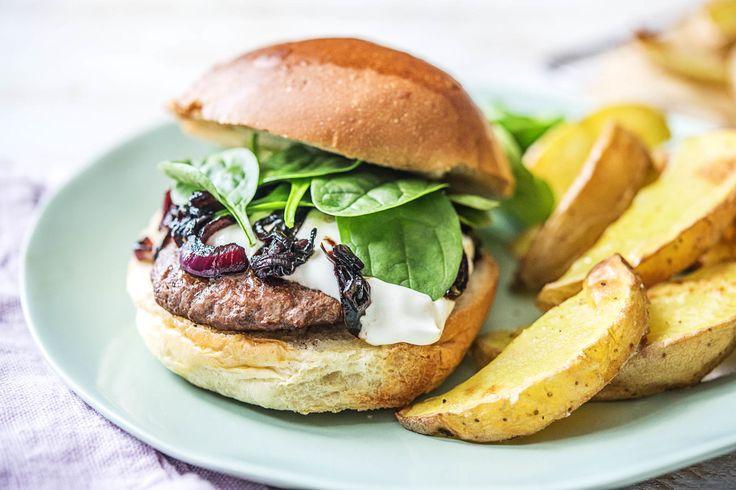 Burgers with Red Onion Marmalade Recipe | HelloFresh