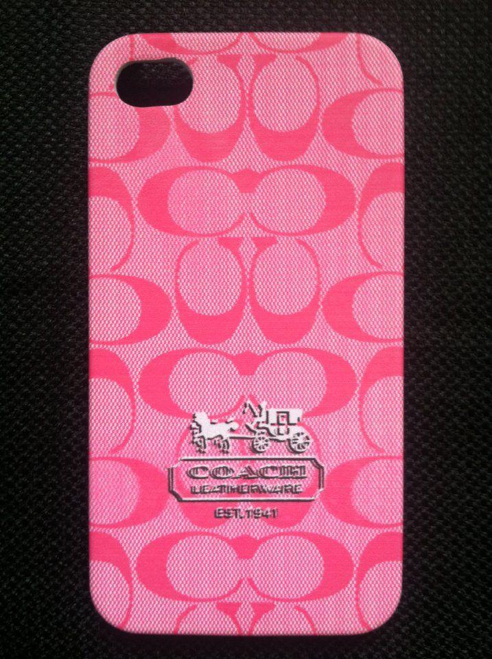 Coach Hot Pink iPhone 4 Hard Back Case