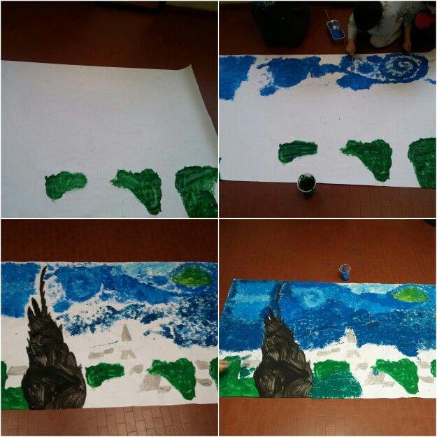 Vang Gogh #art #project #fork #kids #school
